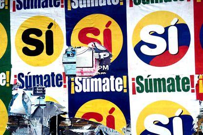 Affiche pour le référendum sur les accords de paix en Colombie.