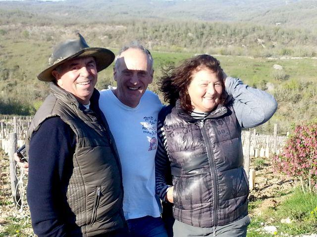 Denis avec les Bourguignon (Lydia et Claude)