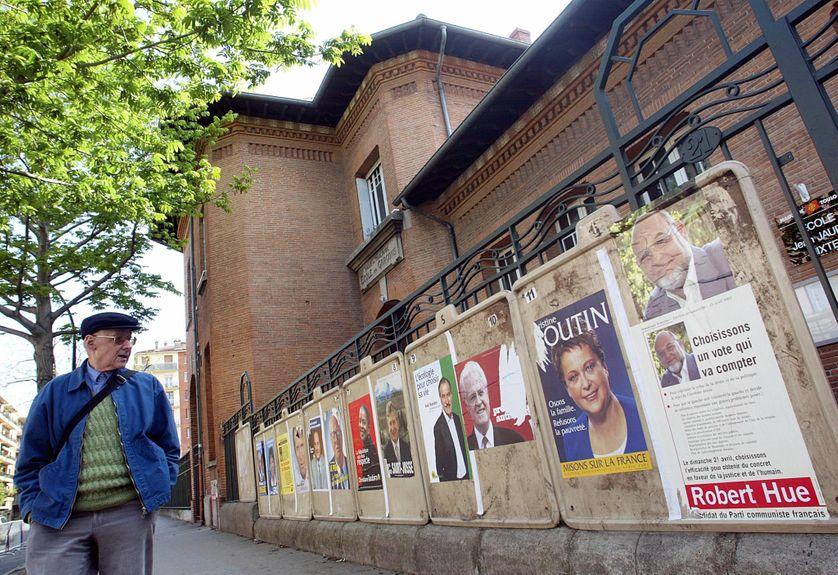 Affiches de la campagne présidentielle de 2002