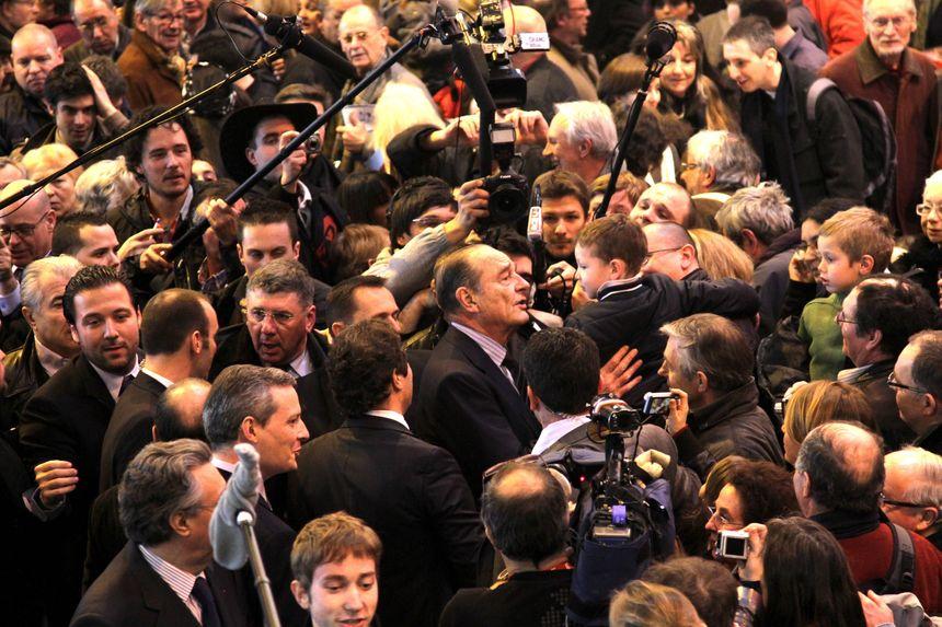 Jacques Chirac au 42e Salon de l'Agriculture en 2010