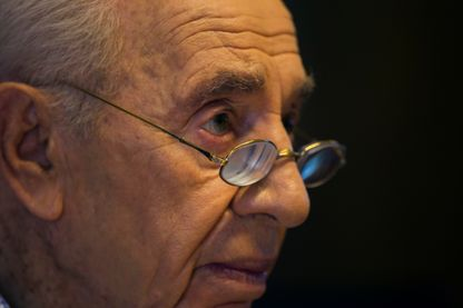 Le président israélien Shimon Peres, en 2014