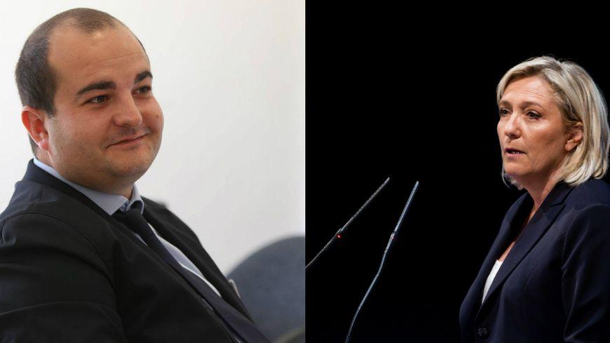 David Rachline et Marine Le Pen