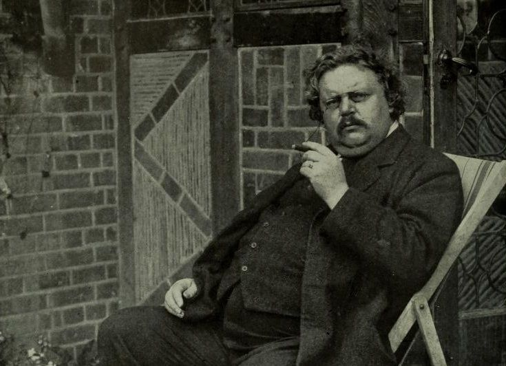 Picture of Chesterton and Dog