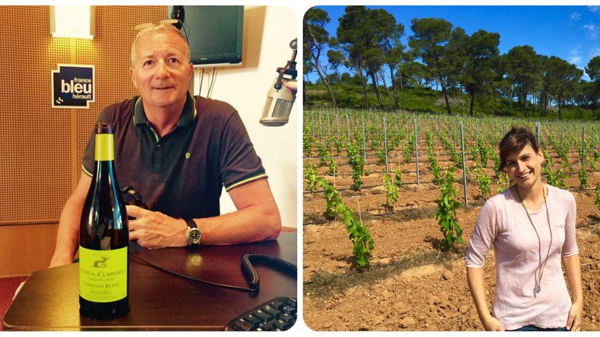 Thierry Boyer, sommelier conseil & Anäis Ricome, la vigneronne du domaine la Croix Gratiot