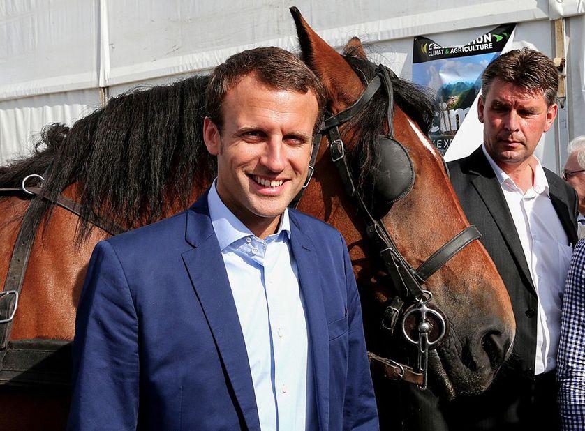 Emmanuel Macron à la foire de Chalons-en-Champagne ce jeudi.