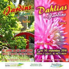 Affiche du 21ème festival Dahlias et Jardins au lycée nature de Coutances  (Manche)