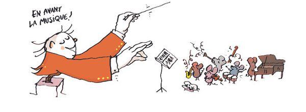 Musique pas bête - illustrations © Pascal Lemaître