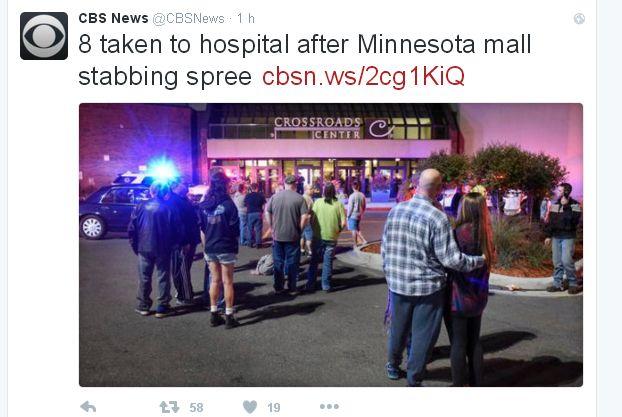Le Crossroads Center où a eu lieu l'attaque au couteau