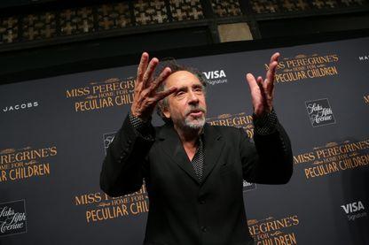 """Tim Burton lors de la première diffusion de son nouveau film """"Miss Peregrine's Home For Peculiar Children"""" (""""Miss Peregrine et les enfants particuliers"""")"""