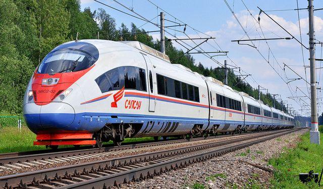 Le Sapsan de Siemens entre Moscou et Saint-Petersbourg