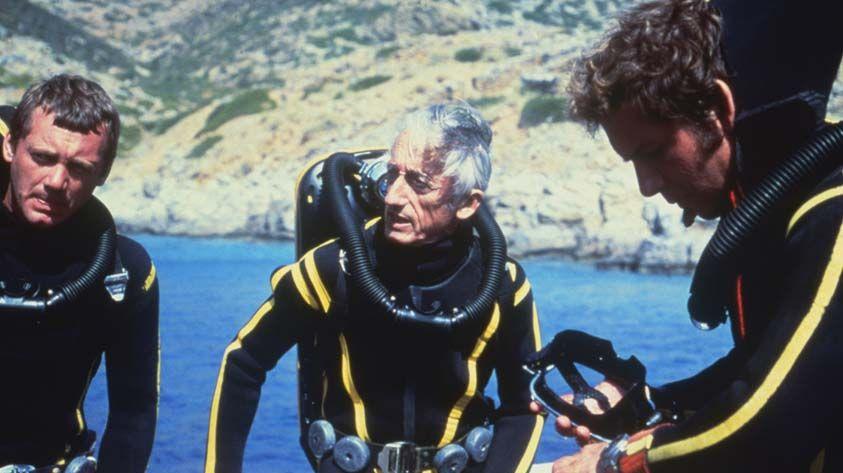 Le commandant Cousteau et son équipe