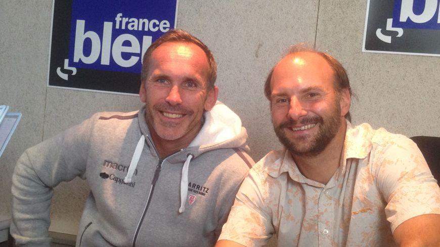 Jack Isaac manager du Biarritz Olympique et Thibault Vincent journaliste à France Bleu Pays Basque
