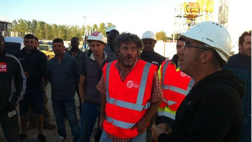 Les ouvriers du BTP sur le chantier de Toulouse Montaudran Aerospace