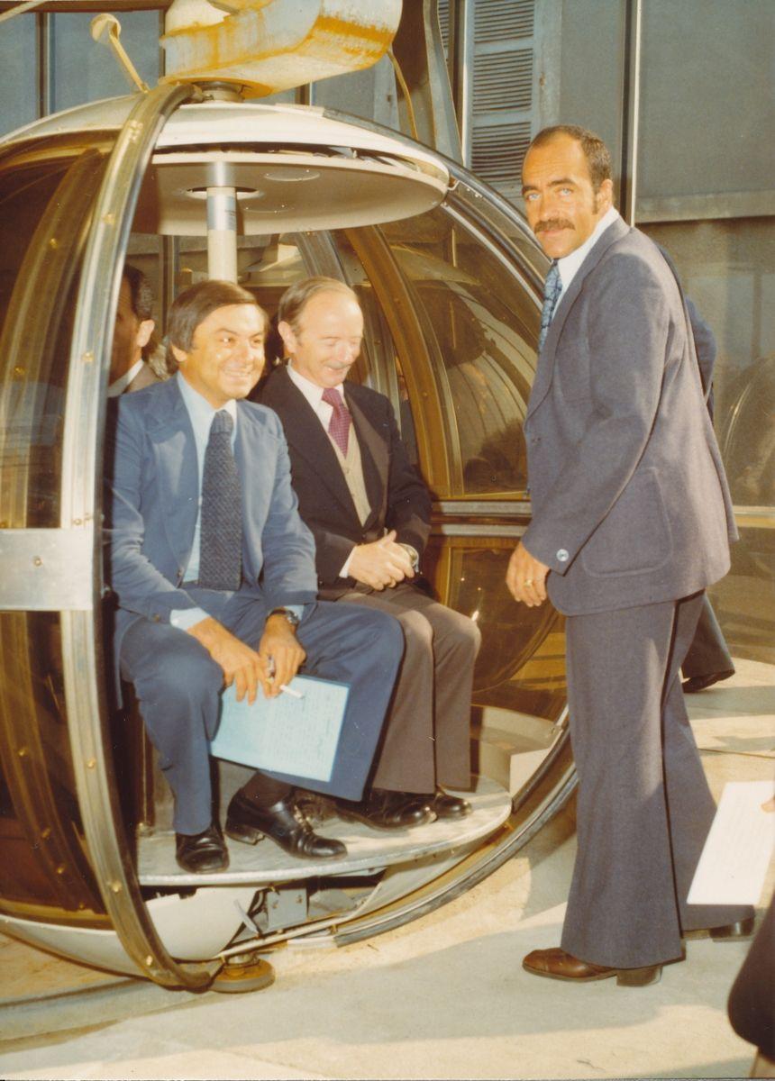 le jour de l'inauguration, le 18 septembre 1976