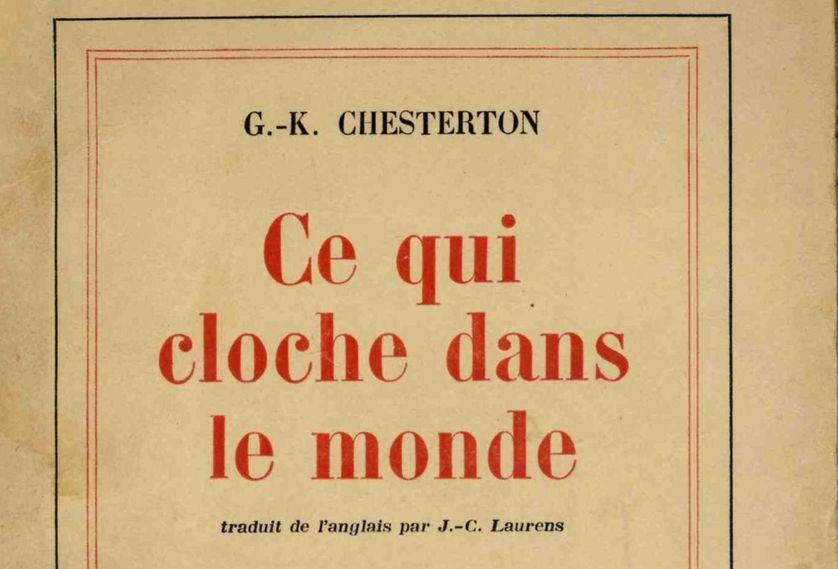 Ce qui cloche dans le monde, couverture de l'essai de Chesterton