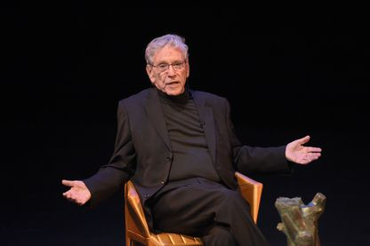 Amos Oz à l'UCLA (Université de Californie à Los Angeles) le 5 mai 2015