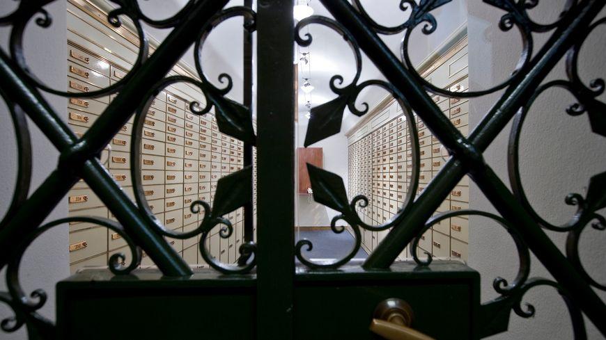 Salle des coffres dans une banque Suisse, les photos sont interdites dans la salle des coffres du CIC de Nancy pour des raisons de sécurité