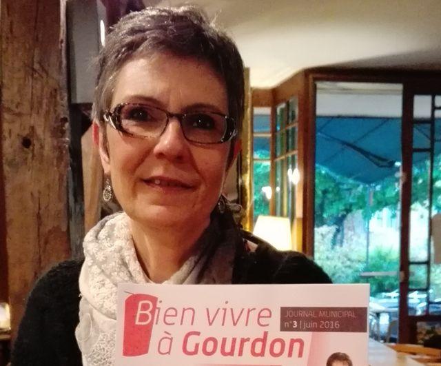 Marie Odile Delcamp, maire de Gourdon