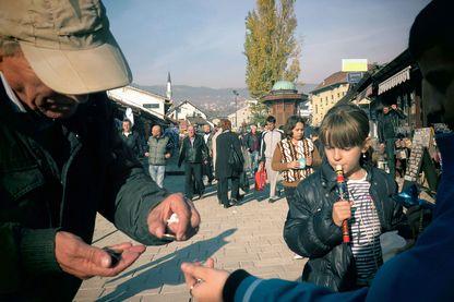 Habitants de Sarajevo, juillet 2015