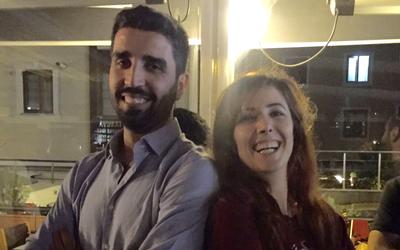 Les avocats Ramazan Demir et Ayse Acinikli le soir de leur libération à Istanbul, le 7 septembre 2016