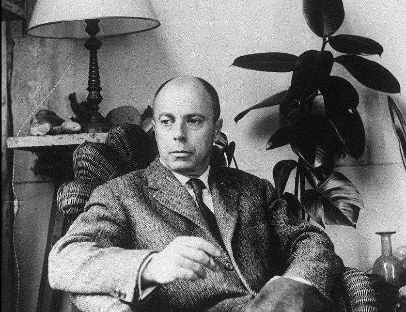 Claude Simon en 1961, à Paris