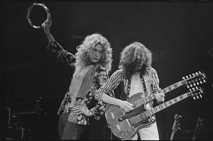 Robert Plant et Jimmy Page de Led Zeppelin