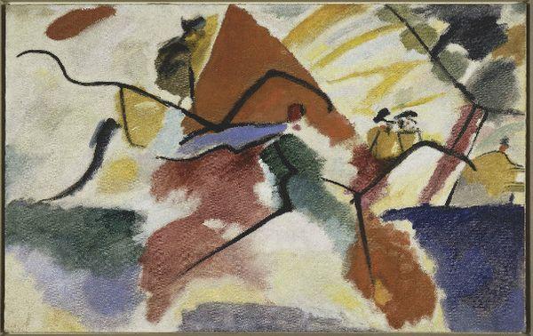 Vassily Kandinsky Impression V (Parc), 1911 Huile sur toile, 106 x 157, 5 cm © Paris, Centre Pompidou, MNAM-CCI dist. RMNGrand- Palais/Bernard Prévost