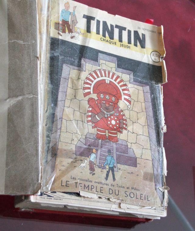 Couverture du premier journal de Tintin conservée dans les locaux du Lombard à Bruxelles