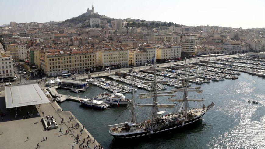 Le Belem, amarré au quai de la Fraternité à Marseille