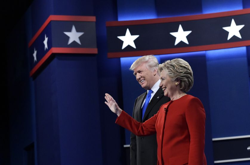 Donald Trump et Hillary Clinton avant le débat du 26 septembre