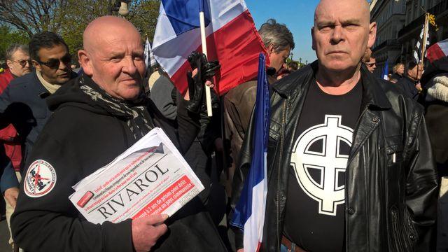 Sympathisants nationalistes soutiens de Jean-Marie Le Pen le 1er mai