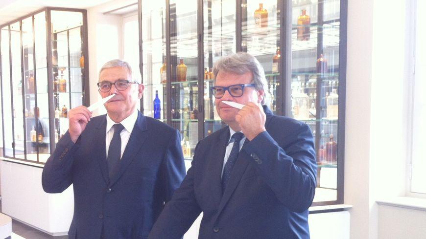 Les parfumeurs François Demachy et Jacques Cavallier-Belletrud