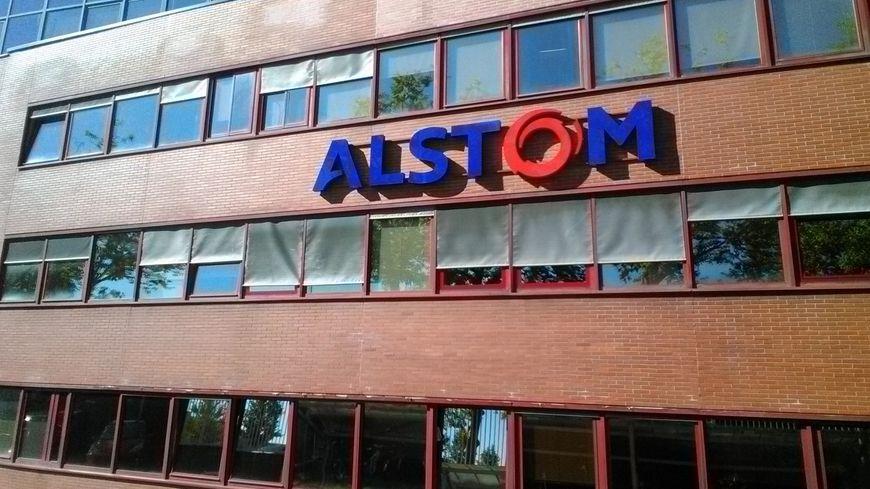 La façade du site Alstom transport à Belfort.