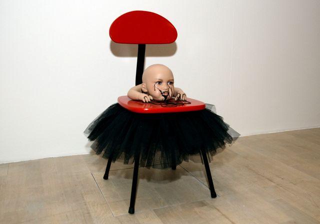 """L'un des vingt-et-un éléments de """"Mes transports"""", une installation d'Annette Messager"""