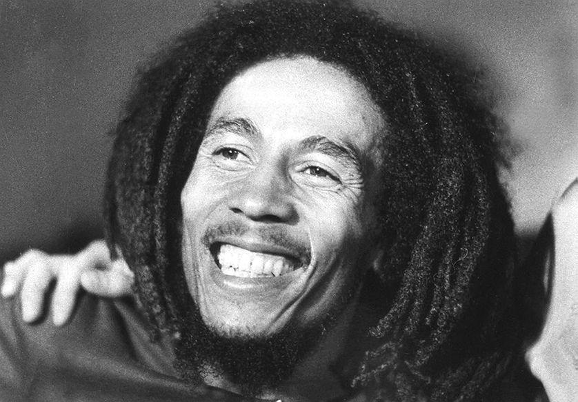Photo prise en 1976 du chanteur jamaïquain Bob Marley, décédé à 36 ans en 1981 des suites d'un cancer.