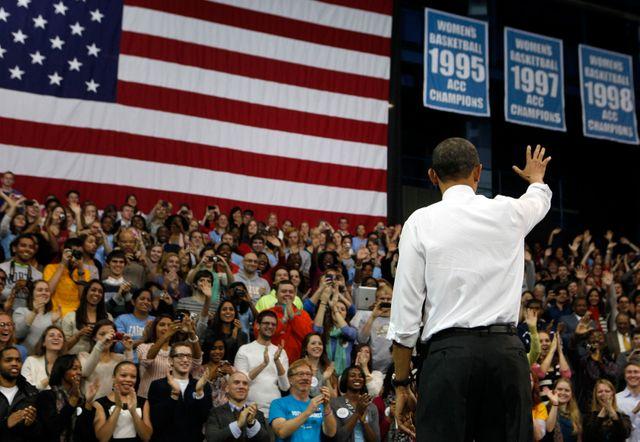 USA : Obama en meeting en 2012 sur le coût des études