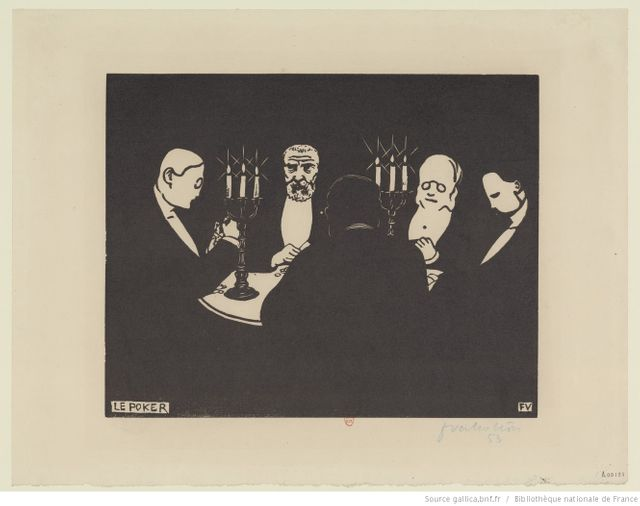 Le poker (estampe) par Félix Vallotton