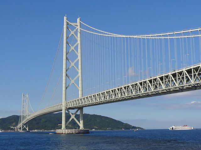 Pont d'Akashi au Japon