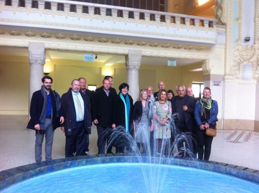 Les maires des villes thermales Européennes candidates au patrimoine de l'UNESCO sous le dôme des thermes de Vichy