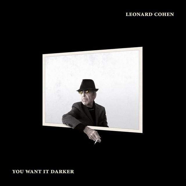 "Couverture de l'album ""You Want It Darker"" de Leonard Cohen"