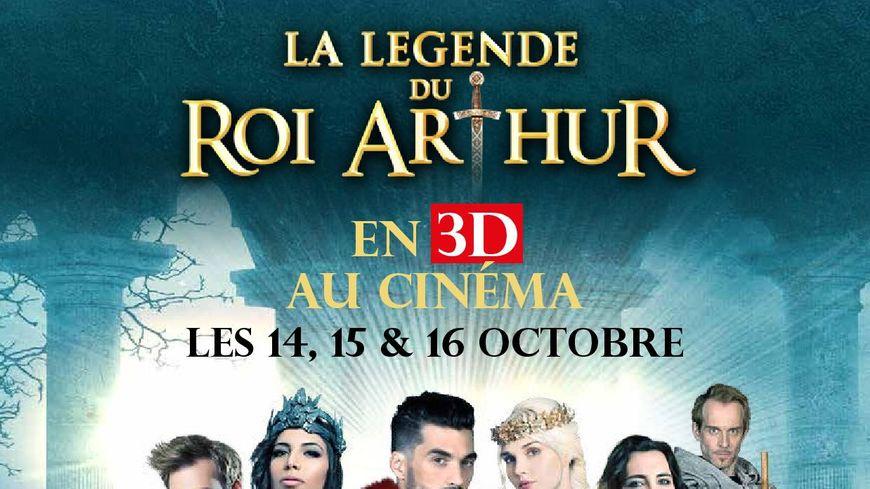 Affiche la légende du roi Arthur en 3D