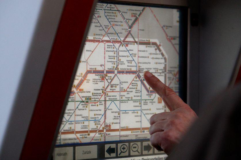 Plan du réseau ferré de Berlin