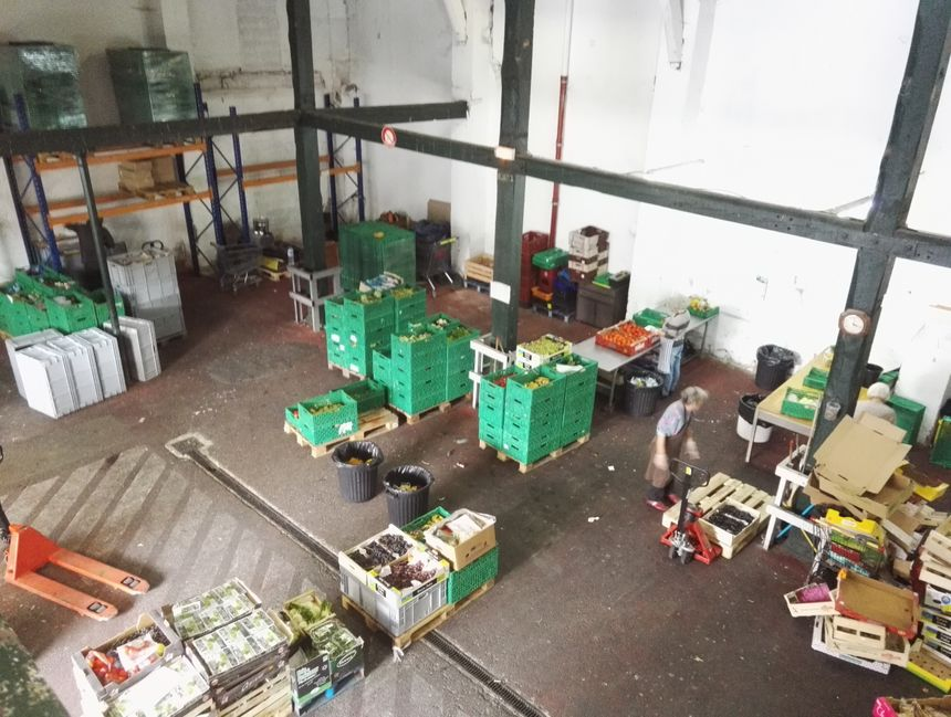 Les locaux de la banque alimentaire, zone Saint Frederic