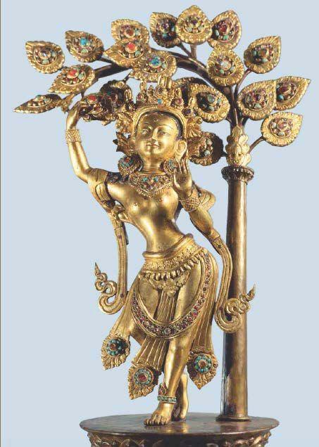 Bouddha bronze, Népal, XVIIIème siècle