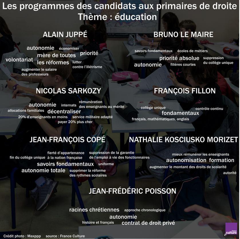 Les programmes des candidats aux primaires