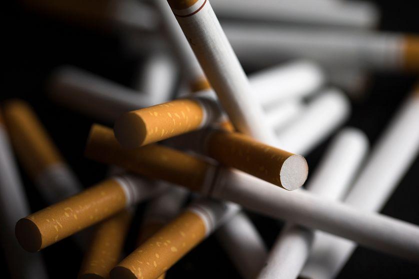 Photo de cigarettes prise le 25 septembre 2014