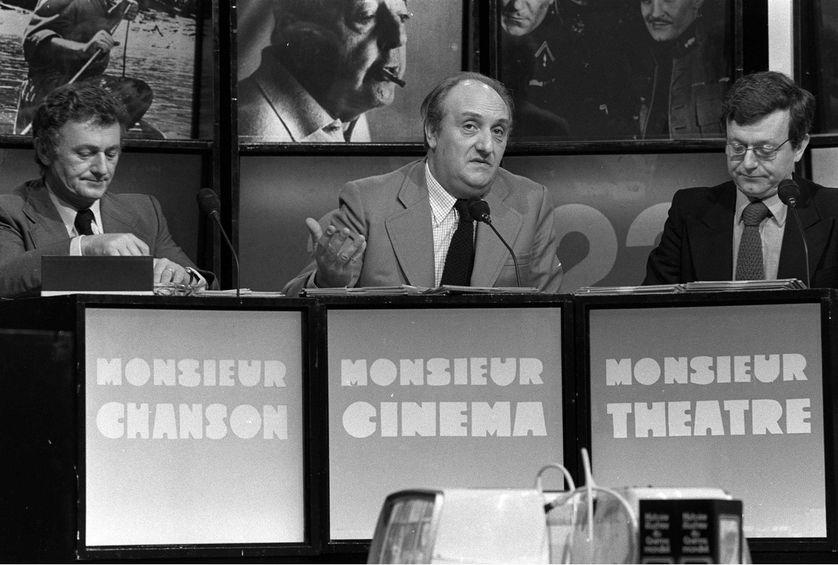 """Pierre Tchernia dans l'émission """"Monsieur Cinéma"""" en 1977"""