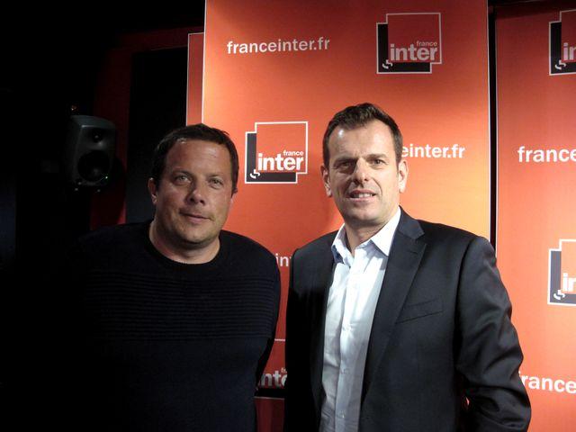 A gauche le journaliste spécialiste des affaires criminelles, François Pottier et à droite le juge d'instruction Patrice Camberou