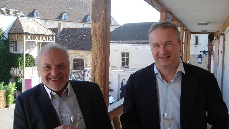 Claude Chevalier, président délégué du BIVB, et Louis Fabrice Latour, président.