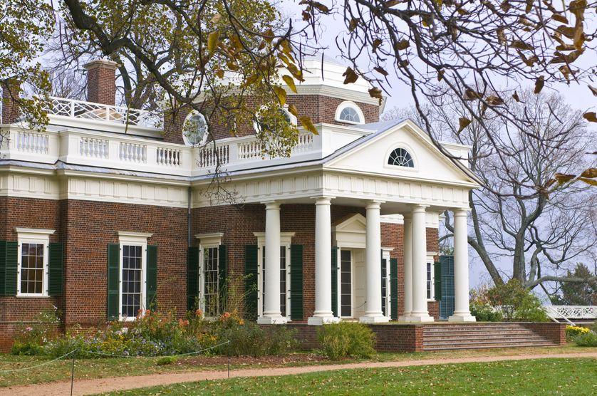 Monticello en Virginie, la propriété de Thomas Jefferson